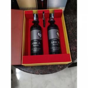 Hộp quà vang chile arica 2 chai