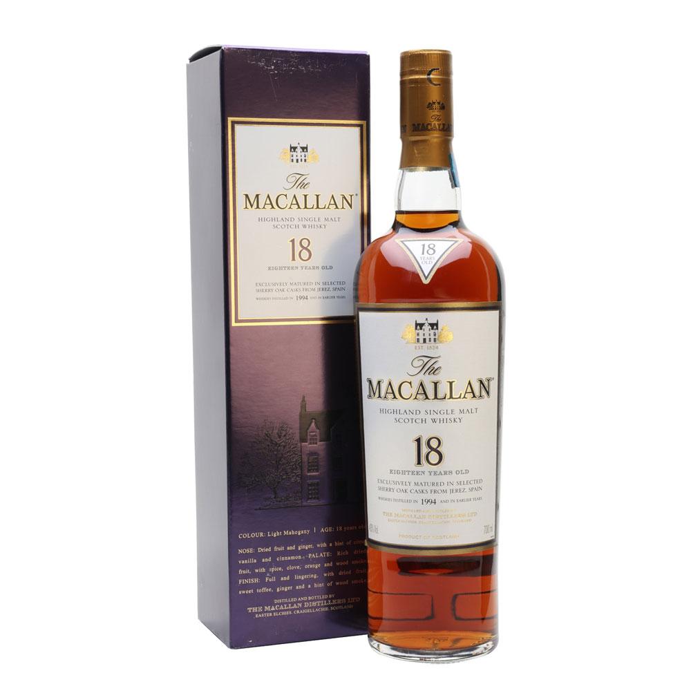 Rượu The Macallan Sherry Oak 18YO