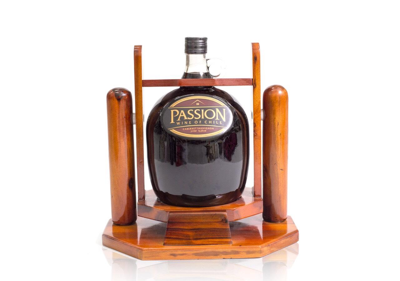 Rượu vang đỏ Passion kệ chai thủy tinh 3Líl